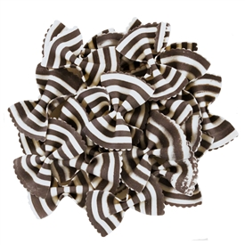 "Zebra Bowties ""Farfalle Magia Bianca"" Colored Pasta"