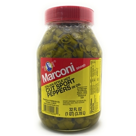 Cut Sport Peppers 32 oz