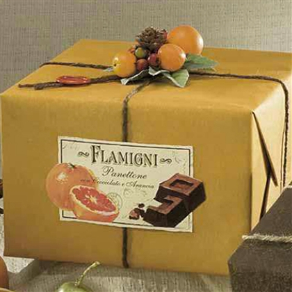 orange panettone flamigni